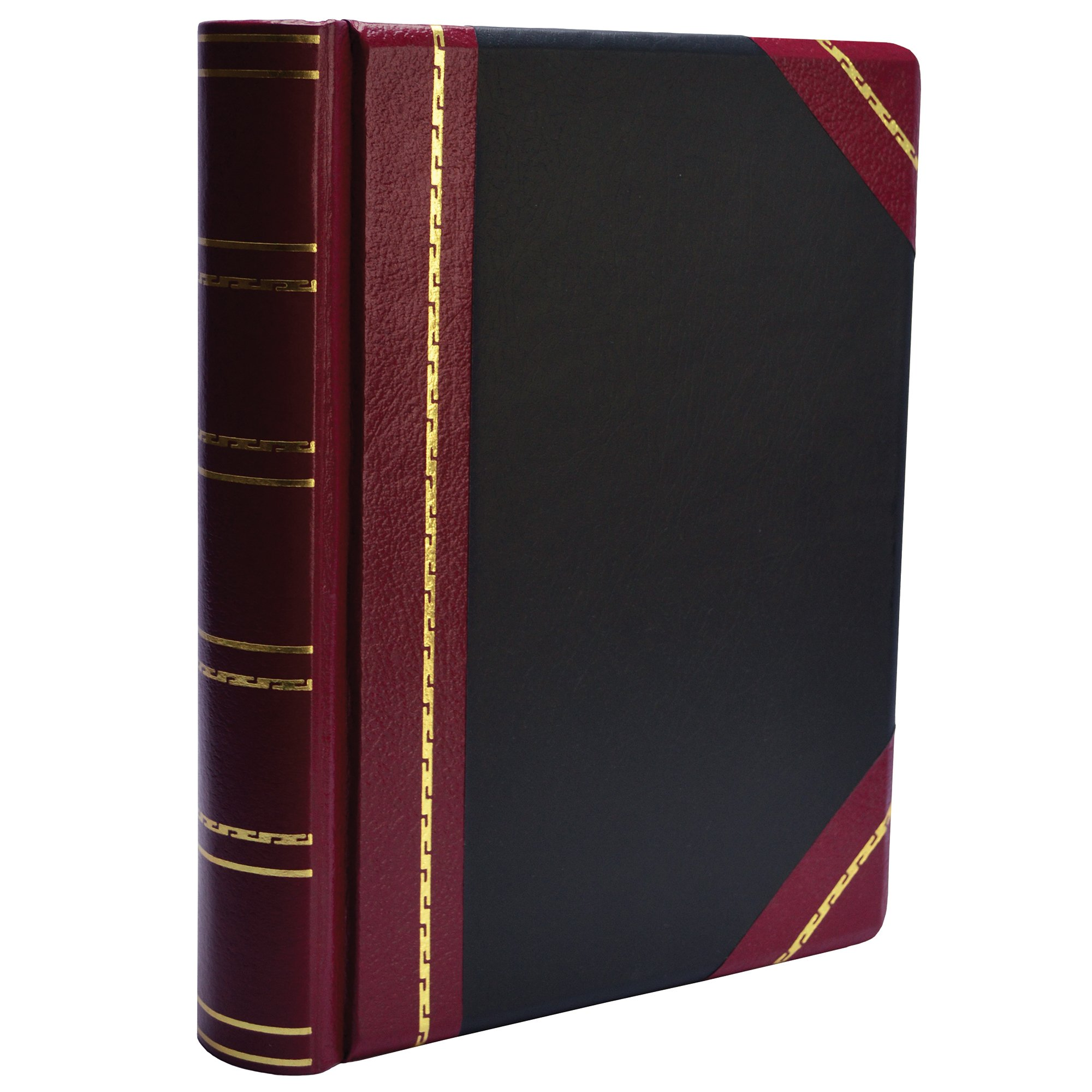 Wilson Jones Minute Book, Binder Only, Letter Size, 500 Page Capacity, Imitation Leather, Red and Black (W397-15)