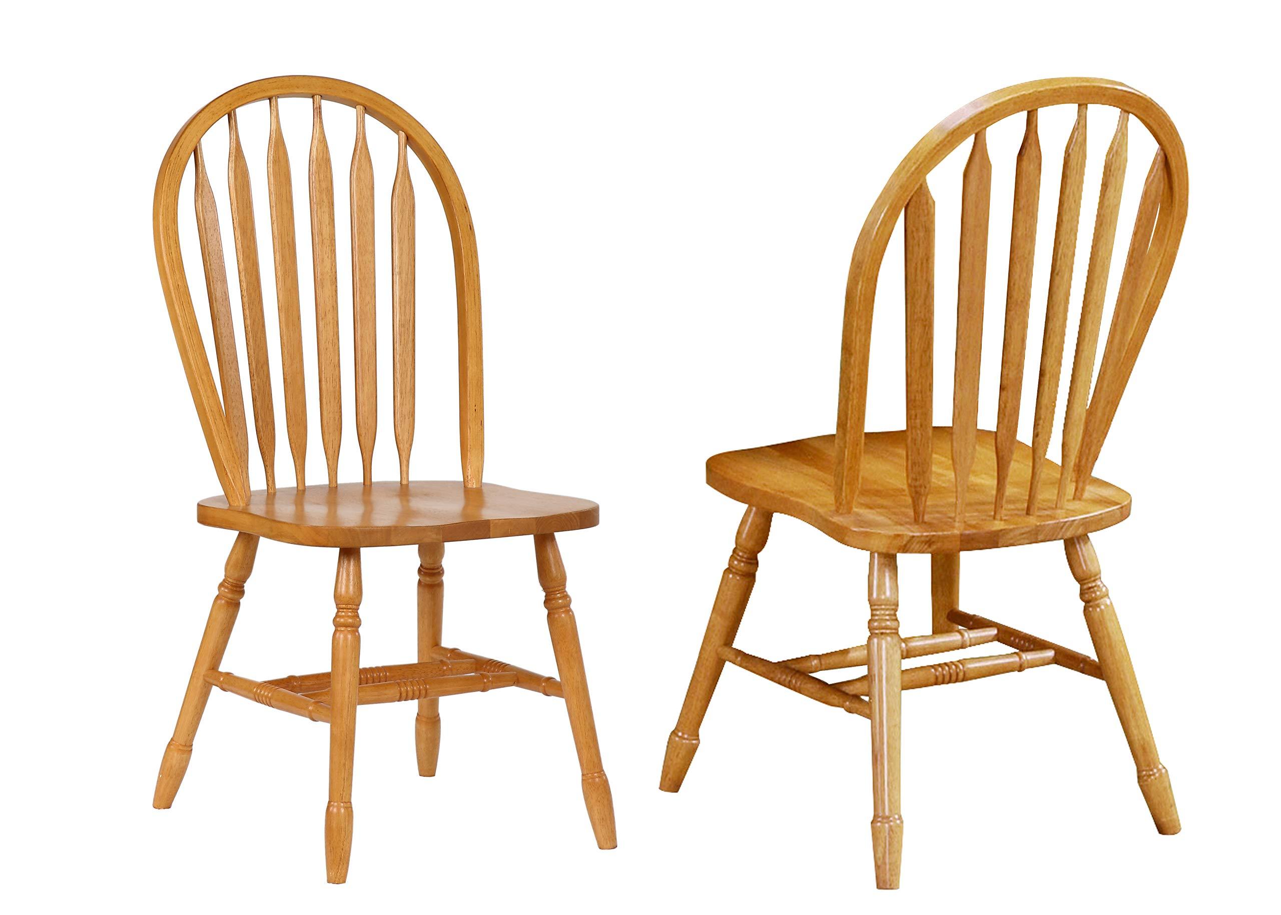 Sunset Trading Arrowback Dining Chair, Set of 2, 38'', Light Oak