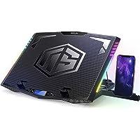 MOOJAY C52 RGB almohadilla de refrigeración para portátil, 6 ventiladores silenciosos para juegos, 7 modos de color RGB…