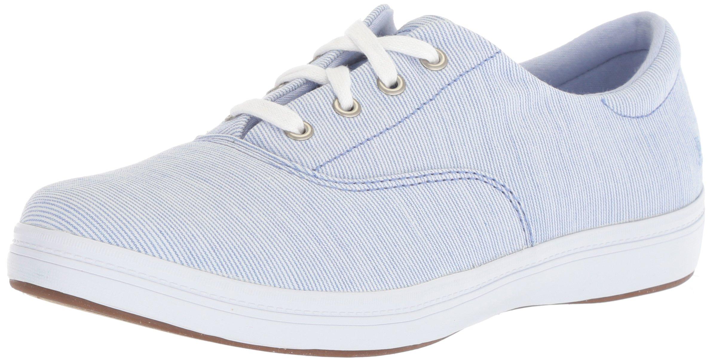 Grasshoppers Women's Janey Ll Textural Stripe Sneaker, Blue, 9 M US