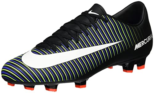 da05d182d3f79 Nike Mercurial Victory VI FG Black White Electric Green Paramount Blue  Men s Soccer Shoes  Amazon.ca  Shoes   Handbags