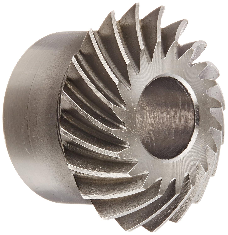 Boston Gear LSA-R Series Spiral Miter Gear, 1:1 Ratio, 20 Degree Pressure Angle, 35 Degree Spiral Angle, Plain Bore, Steel, Right Hand