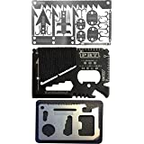Survival MultiTool Card (3 TOOL PACK) Bug Out Bag CampingTool: 3 Best Multi tools for Camping and Wilderness Survival Prepper