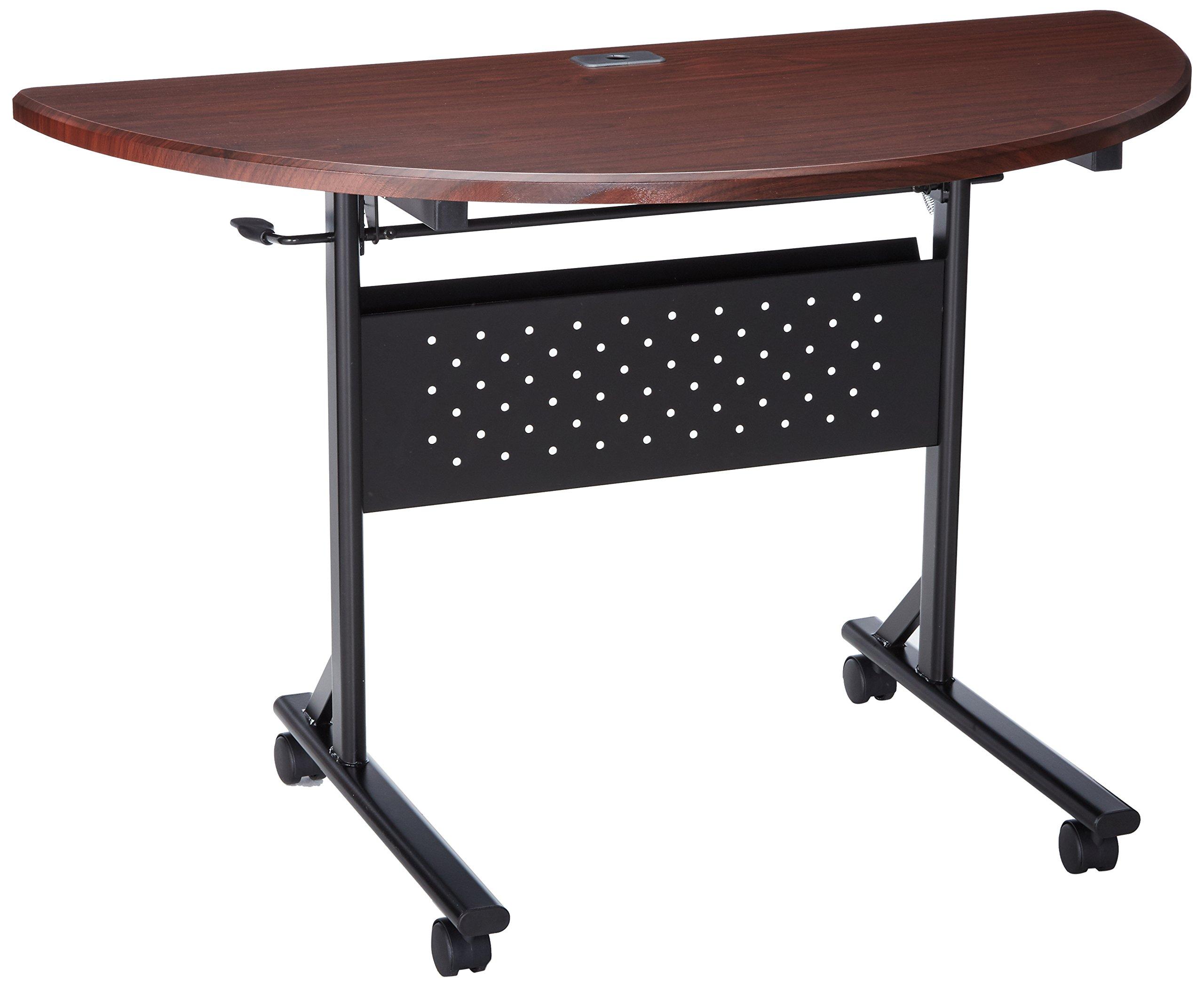 Lorell LLR60668 Flipper Training Tables, 2.95'' Height X 26.77'' Width X 73.23'' Length, Mahogany by Lorell