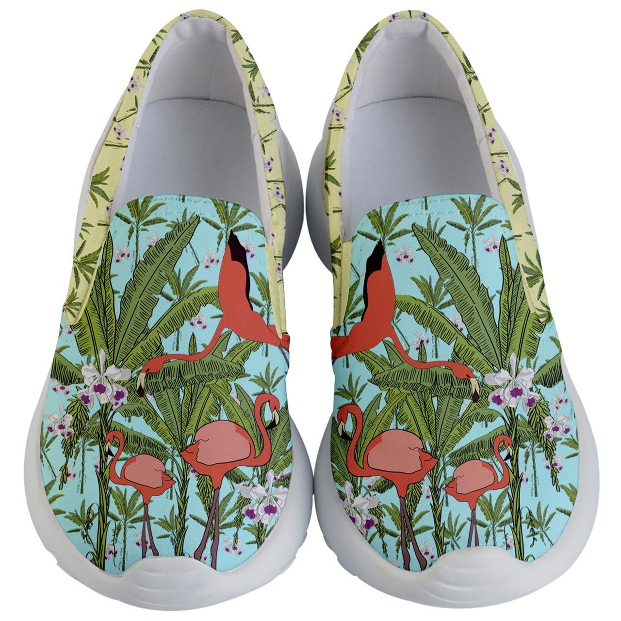 PattyCandy Little/Big Kids Sneakers Africa Zoo & Farm Animals Print Lightweight Slip Ons for 2-13 Years Old PattyCandy-148833016