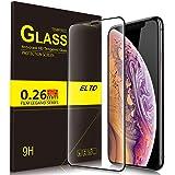 ELTD iPhone XS Max ガラスフィルム iphone Xs Max 保護フィルム 2018秋新発売6.5インチiPhone保護フィルム 日本製素材旭硝子製 3D曲面加工 気泡ゼロ 耐指紋 日本語説明書付き 割れたら交換 365日 ブラック