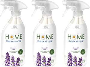 Home Made Simple All Purpose Cleaner Natural Household Surface Cleaning Spray, Lavender Scent, 54 Fluid Ounce