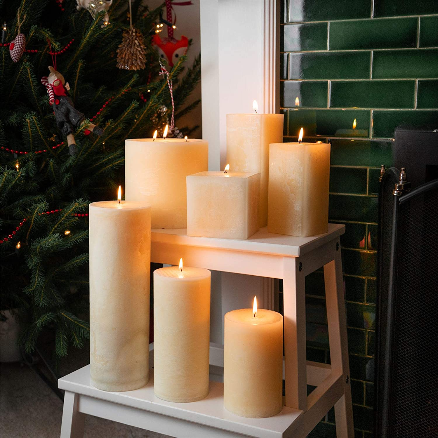 120hrs Burning Time Vanilla Scented Single Wick Square Candle 100x100x100mm