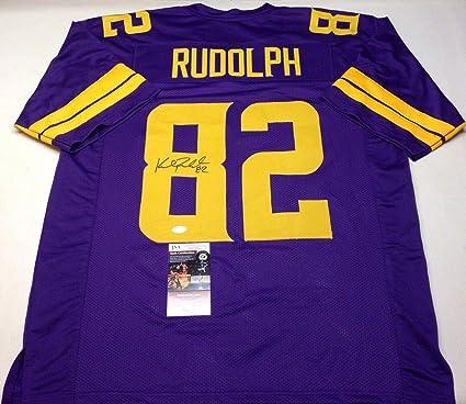 quality design 458ce 47363 Kyle Rudolph Autographed Jersey - Custom Color Rush Coa ...