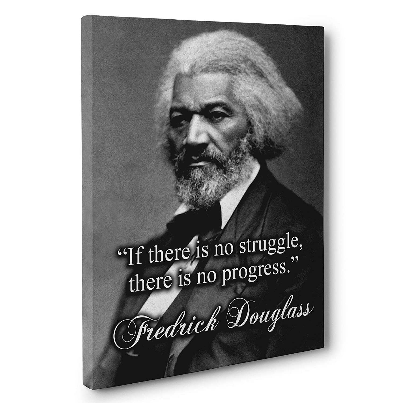 No Progress Without Struggle Fredrick Douglass Quote CANVAS