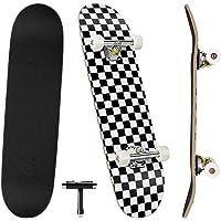 Benewell Skateboard compleet board Funboard 79 x 20 cm met 7-laags esdoornhout, voor kinderen, jongeren en volwassenen…