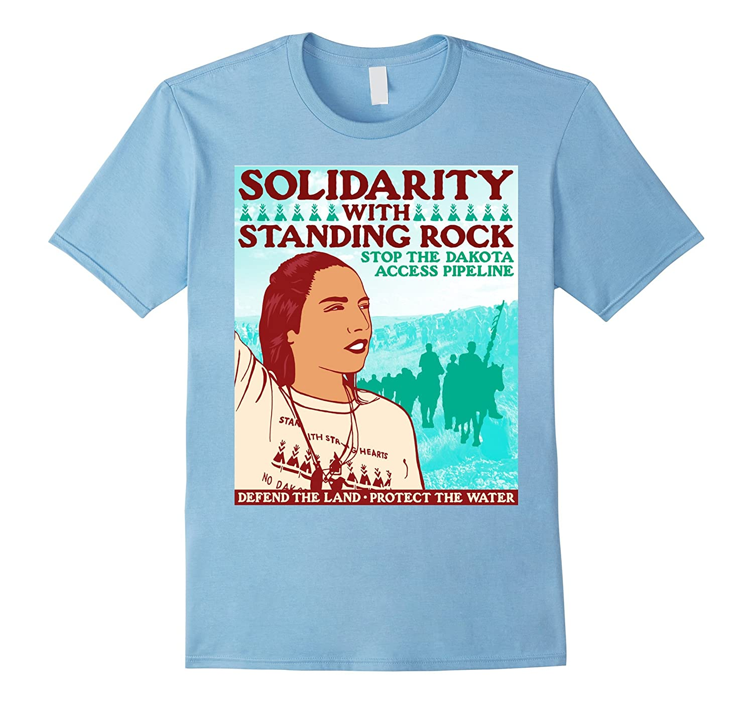 Standing Rock Indian Reservation T-shirt Solidarity Clothing-RT