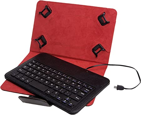 Funda Universal + Teclado con Cable Phoenix para Tablet/EBOOK ...