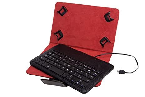 Funda Universal + Teclado con Cable Phoenix para Tablet/EBOOK 7-8 ...
