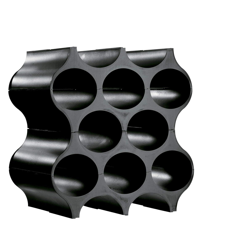 Koziol 3596526 Set-Up Bottle Rack Solid Black