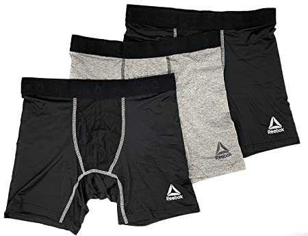 Amazon.com: Reebok Mens Breathable 3 Pack Boxer Briefs: Sports & Outdoors
