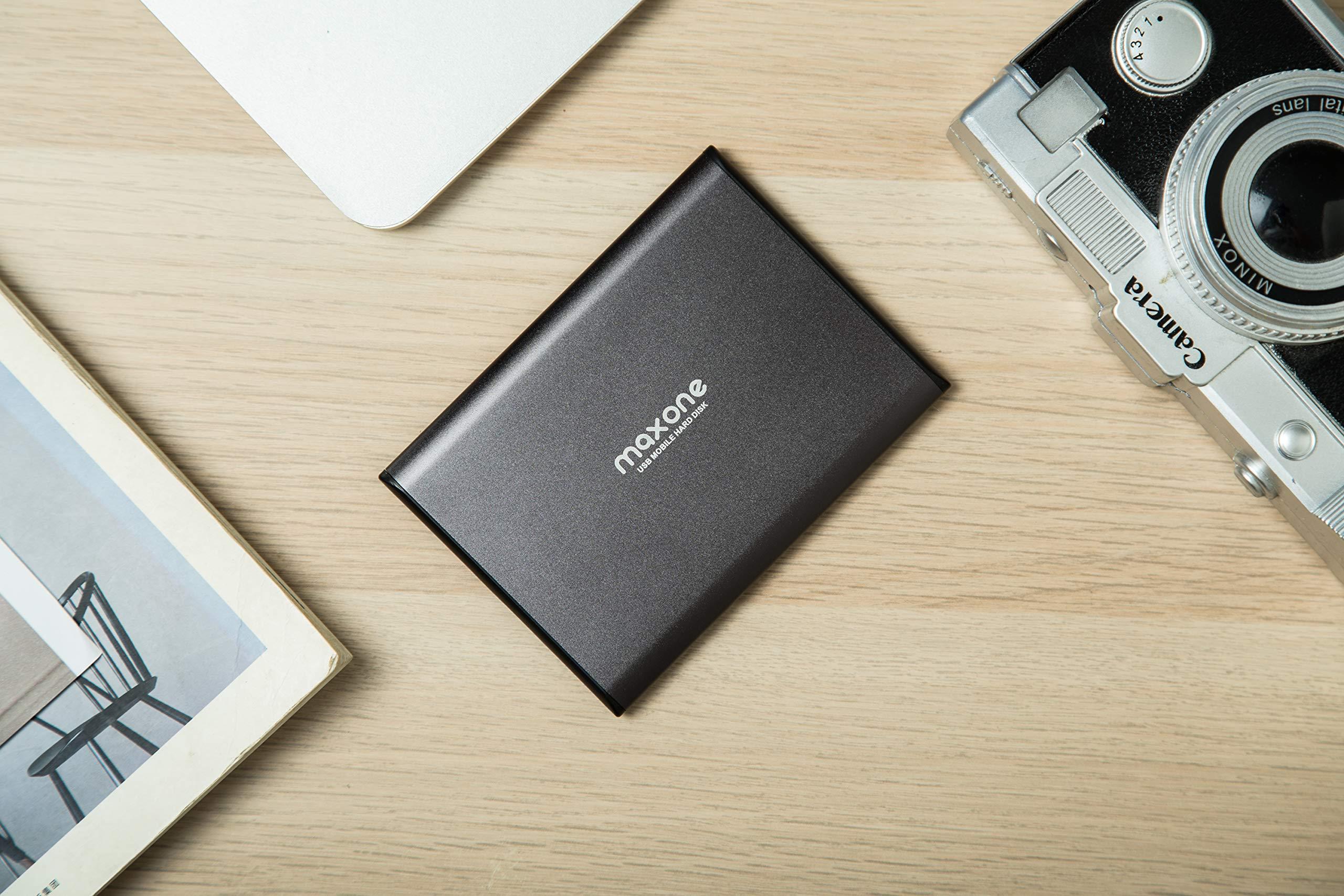 Hard Disk Esterno 160GB-2,5pollici ultrasottili HDD da USB 3.0 portatili per TV, PC, Mac, MacBook, Chromebook, Wii u, laptop, desktop, Windows (160GB, Charcoal)