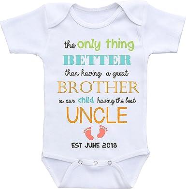 Promini Cute Baby Onesie Like My Uncle Funny Bodysuits
