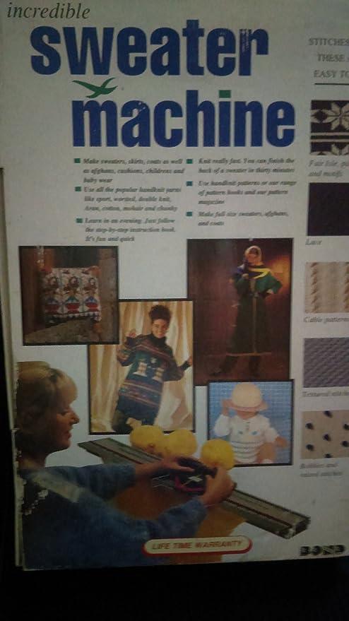 Amazon Bond Incredible Sweater Machine Knitting Machine