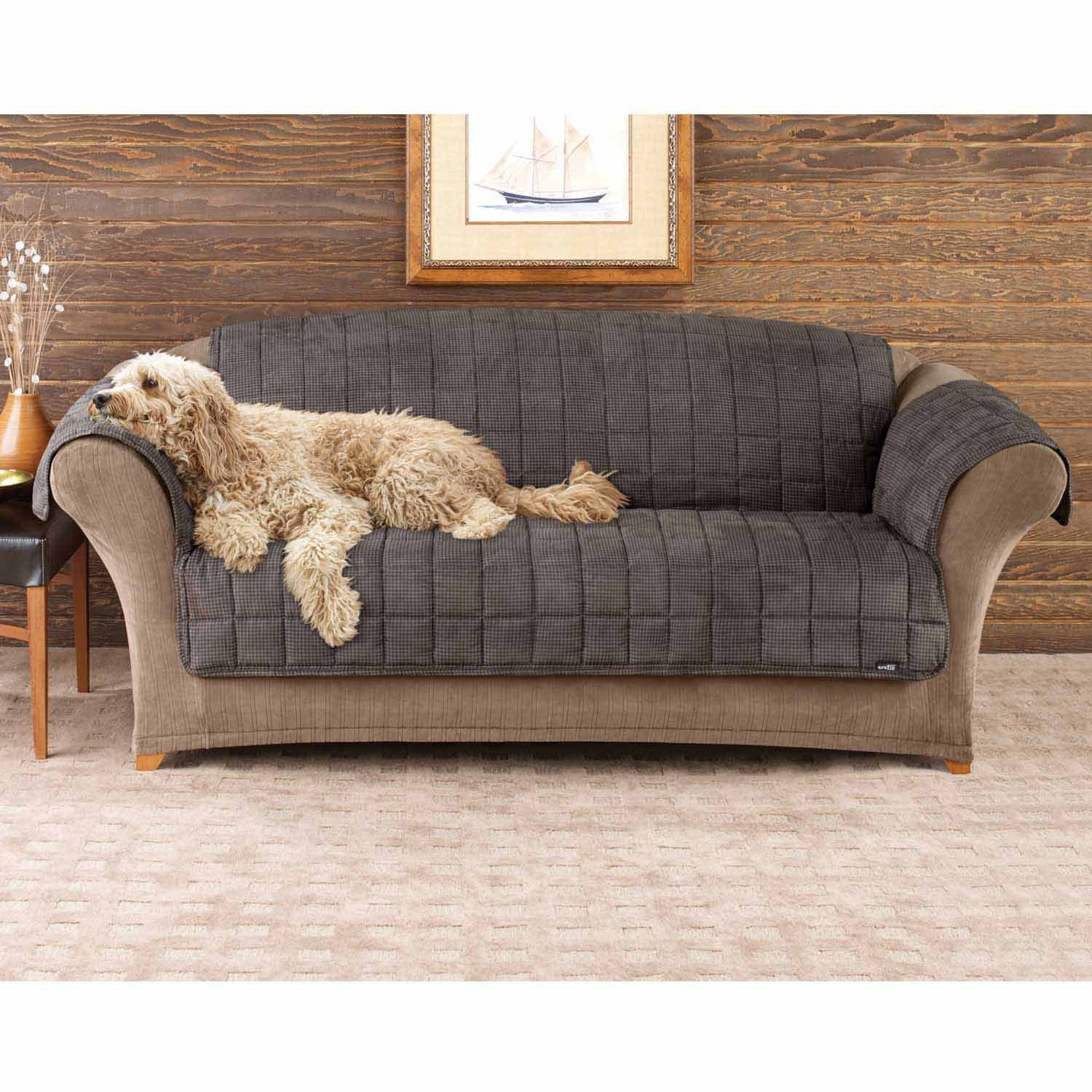 Sure Fit Deluxe Pet Cover  - Sofa Slipcover  - Sable (SF39227) by Surefit