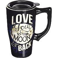 "Spoontiques""Love moon and back"" Travel Mug, Black"