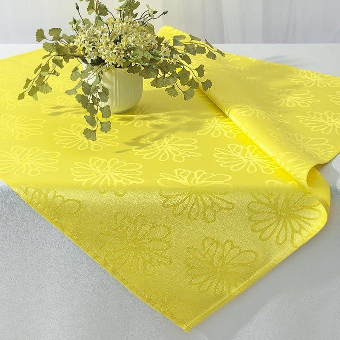 Medios manta mantel flores mar en lilas 85x85 con Lotus efecto mancha protección