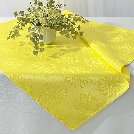 kamaca blten meer nappe couleur jaune dimensions 85 x 85 cm motif jacquard