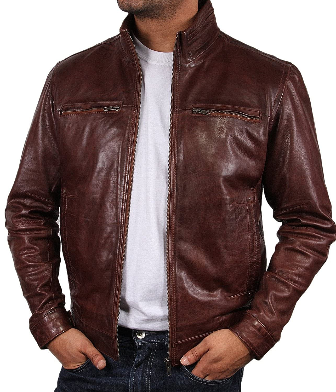 Leather biker jacket 5xl