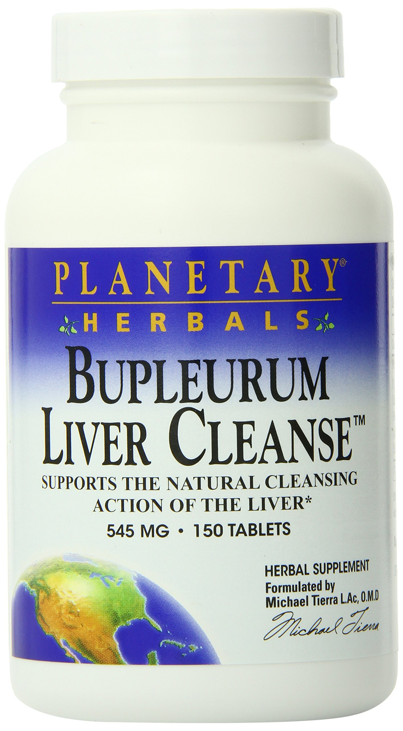Planetary Herbals Bupleurum Liver Cleanse 545mg, Supports the Natural Cleansing Action of the Liver