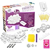 Cooketta - 157 pcs Tart, Pastries, Canapés, Icing, Cake, Clay, Fondant, Sugarpaste, Scones, and Cookies Cutter and embosser design set with ideas book
