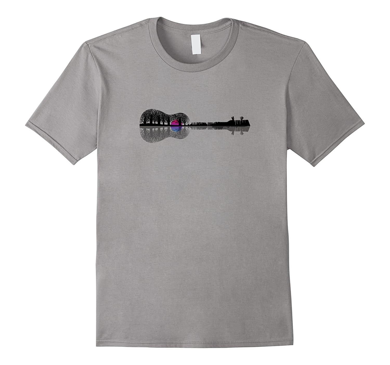 Music instrument tree silhouette ukulele guitar T-shirt-TD