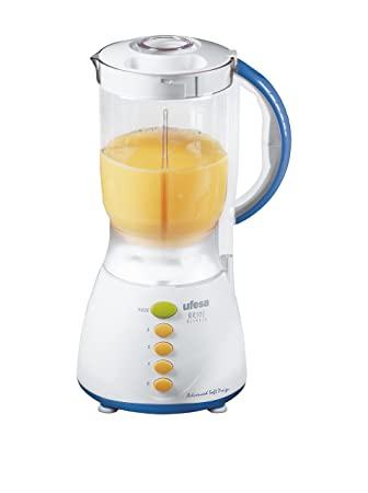 Ufesa BS4700 - Licuadora (Brio! Blender, acero inoxidable, 230 V, 50 Hz, 1980 g), color azul y blanco: Amazon.es: Hogar