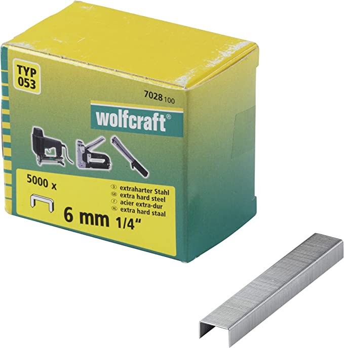 Wolfcraft 7089000 Tacker Set Tacocraft Type 053 Stapler with Metal Housing for Staples 4-14mm
