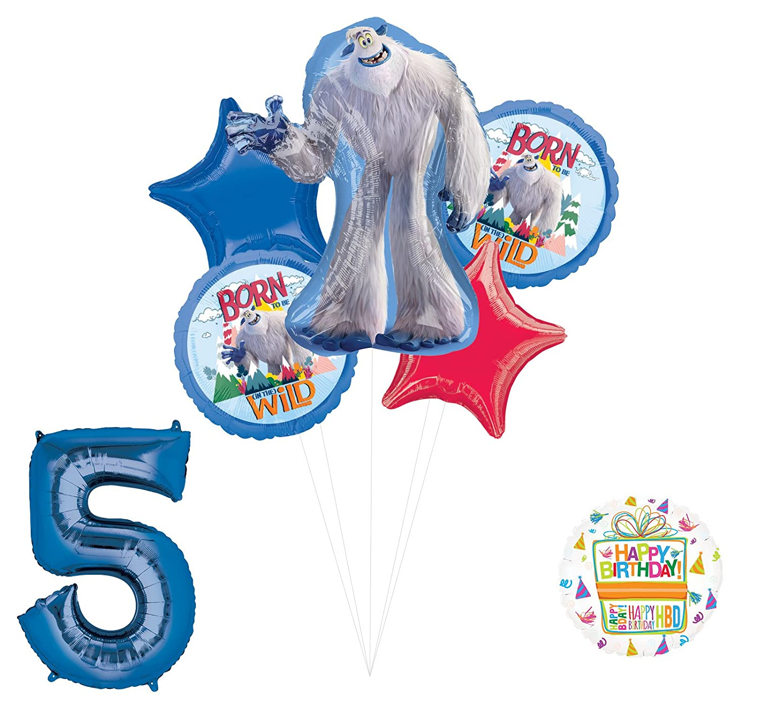 Amazon Smallfoot 5th Birthday Balloon Bouquet Decorations And Party Supplies Toys Games