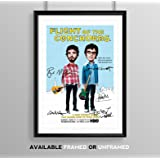 Flight Of The Conchords Cast Signed Autograph Signature Autographed A4 Poster Photo Print Photograph Artwork Wall TV Show Series Season Memorabilia Gift Jemaine Clement Bret McKenzie (POSTER ONLY)