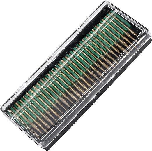 30pcs//Set 3mm Titanium Diamond Burrs Points Drill Bit Set for Power Rotary Tool