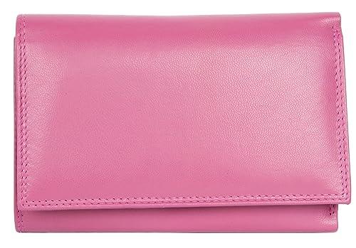 Cartera de cuero genuino agradable rosado sin logotipos ni marcas: Amazon.es: Zapatos y complementos