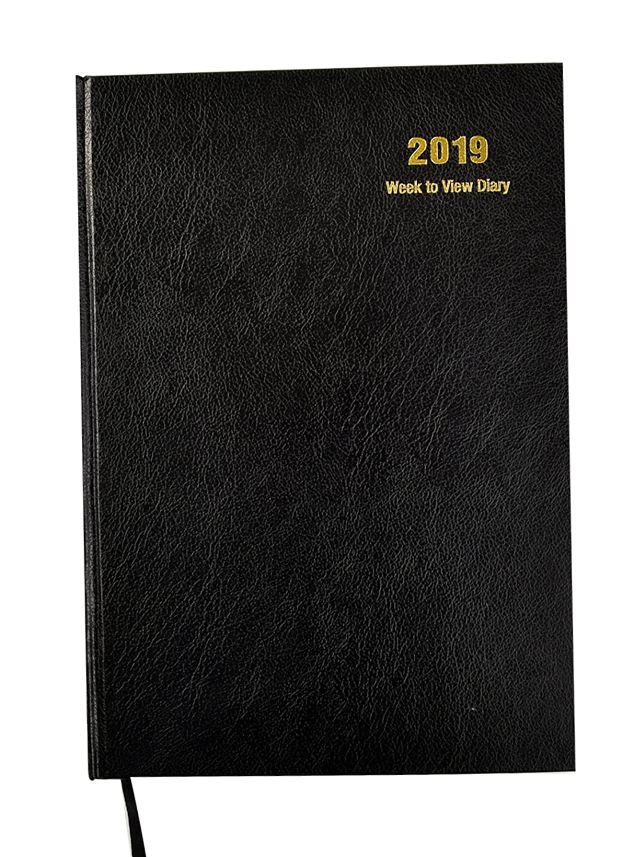 2019 Kalender, 2019 Wochenansicht Hardcover A4 - Black: Amazon.de ...