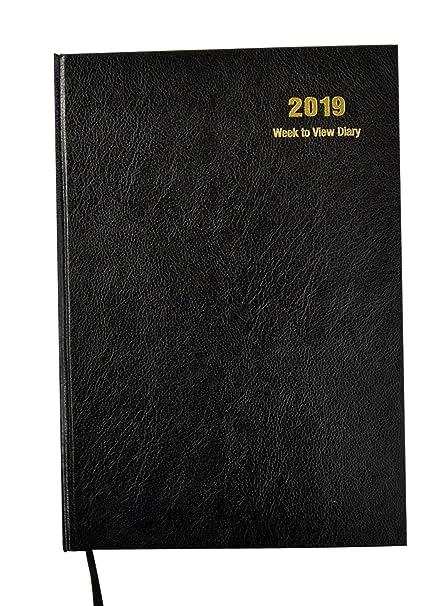 Agenda semainier 2019 à couverture rigide A4 - Black