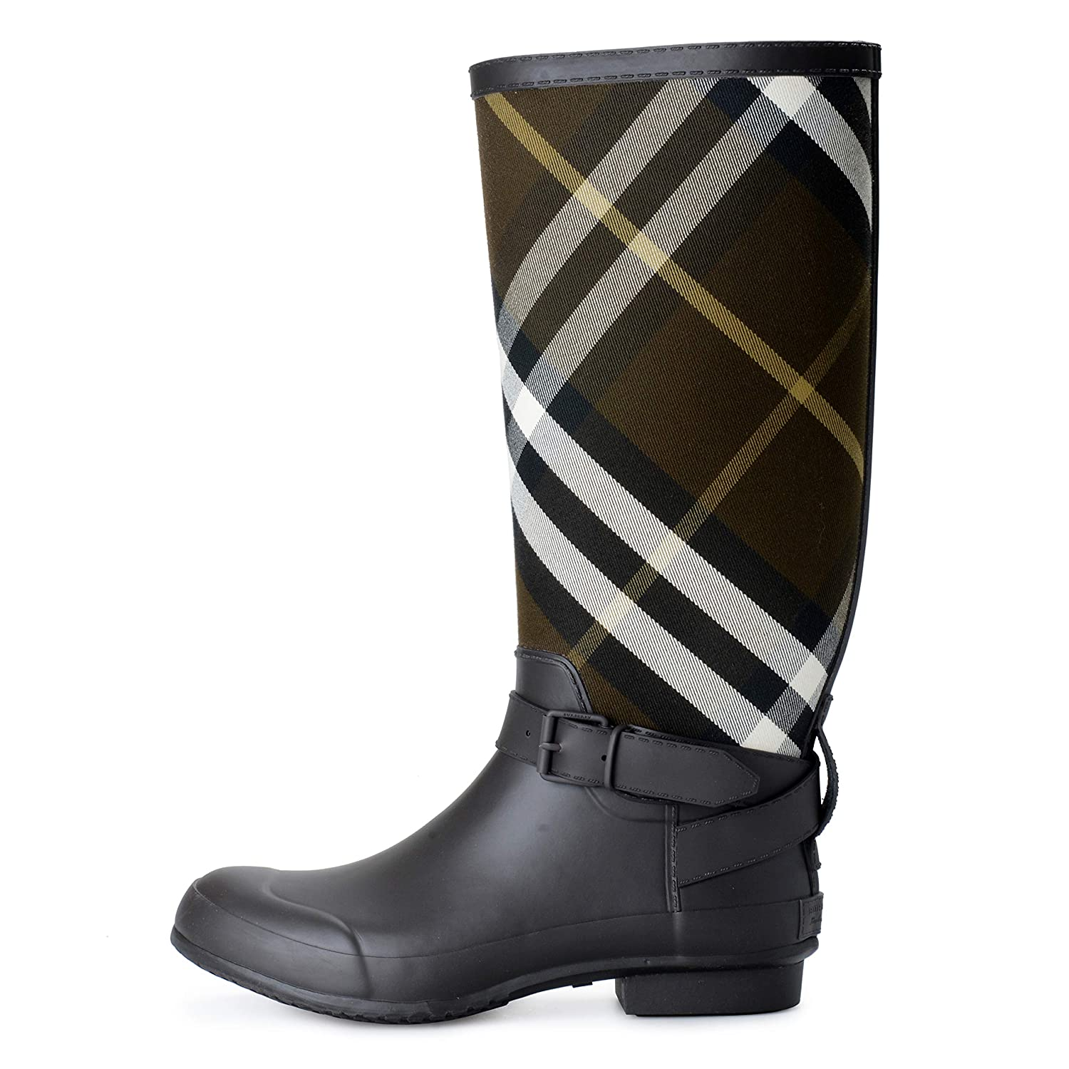 7e68c063ea8e2 Amazon.com | BURBERRY Women's Check Print Rain Boots Shoes US 11 IT 42 |  Rain Footwear