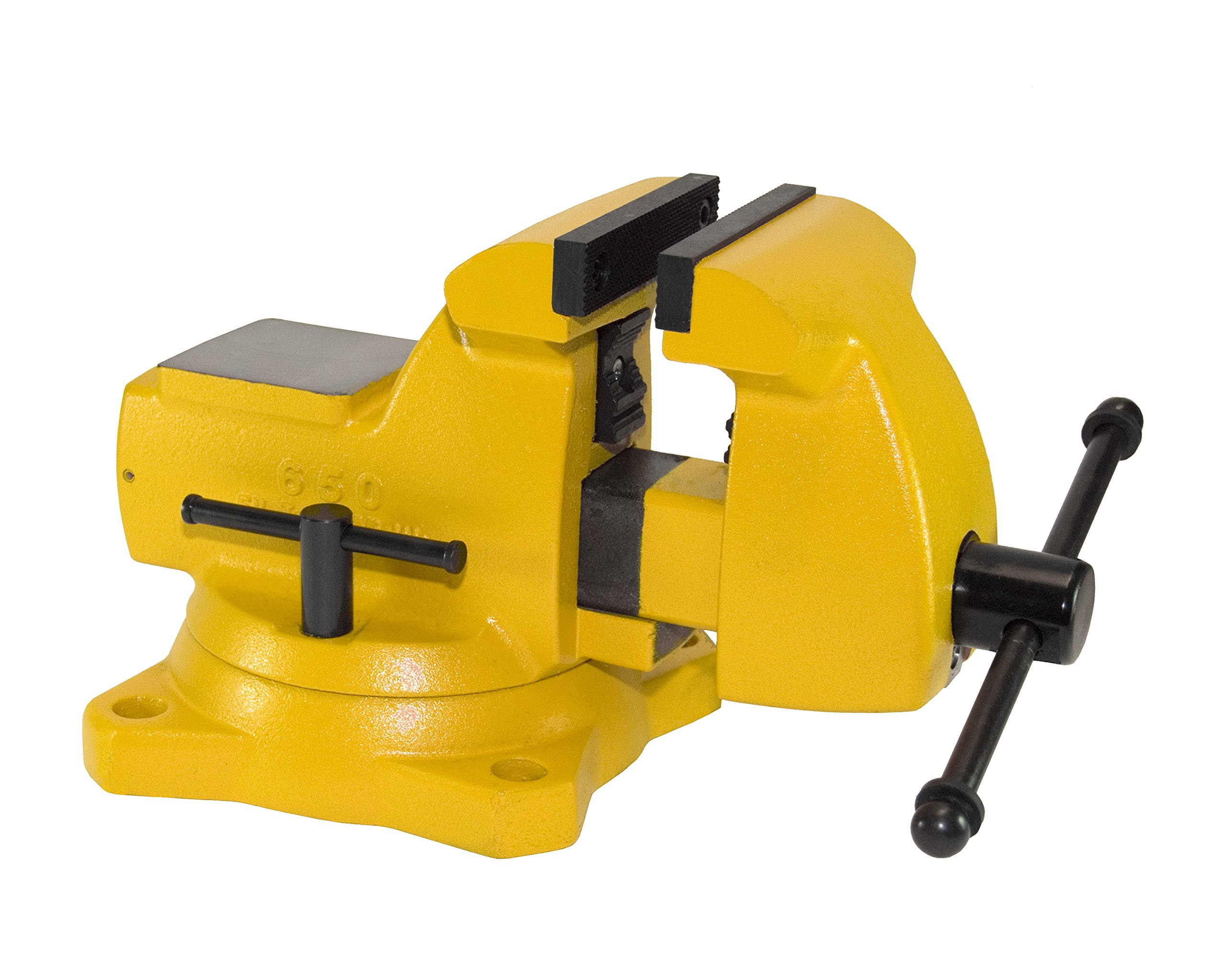 Yost Vises 650-HV 5'' High-Visibility Combination Pipe and Bench Mechanics Vise with 360-Degree Swivel Base