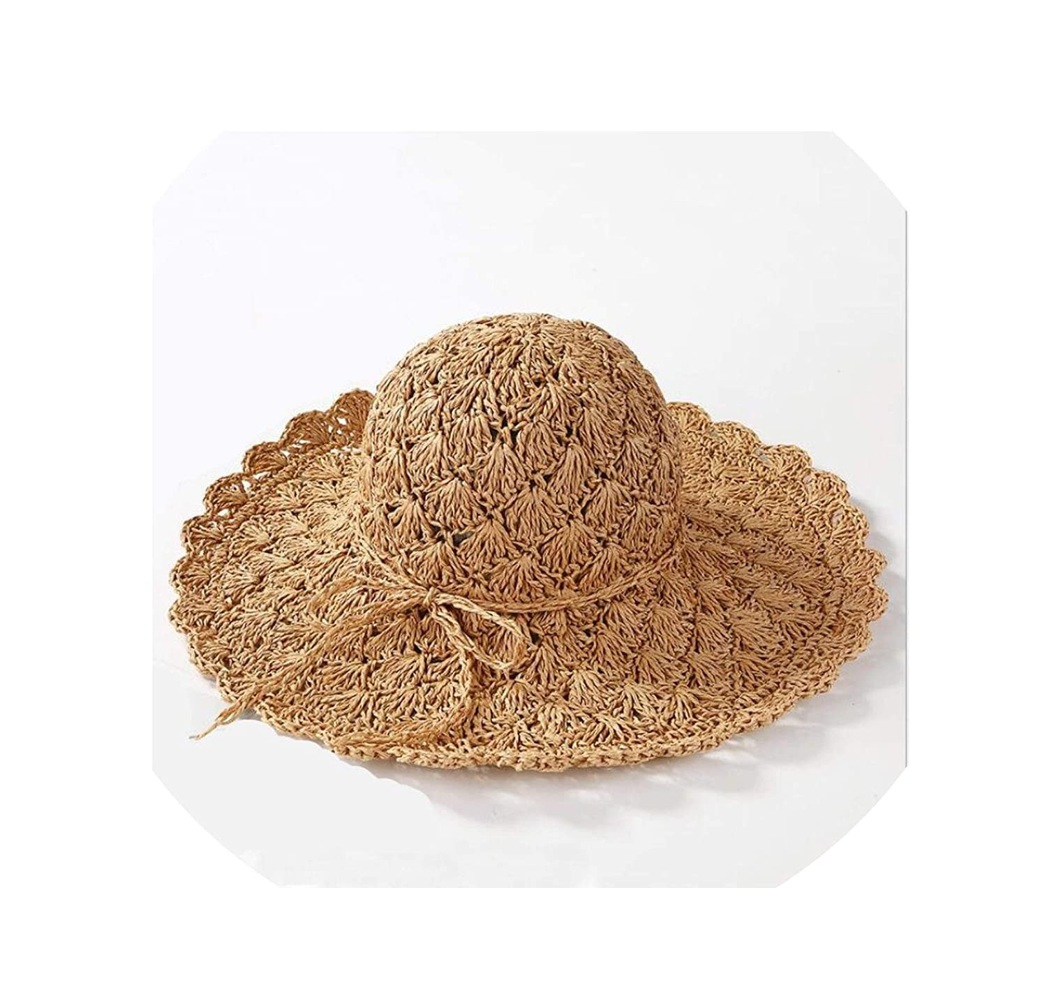 2019 Beach Summer Female Hat Wide Brim Floppy Straw Sun Hat Beach Women Hat Foldable Uv Protect Travel Cap Ladies Casual Cap