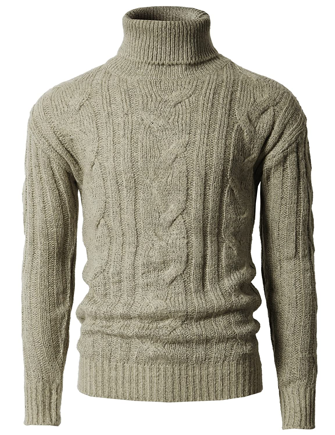 0c82b425e H2H Mens Casual Slim Fit Pullover Sweaters Knitted Turtleneck Long Sleeve  Twisted at Amazon Men's Clothing store: