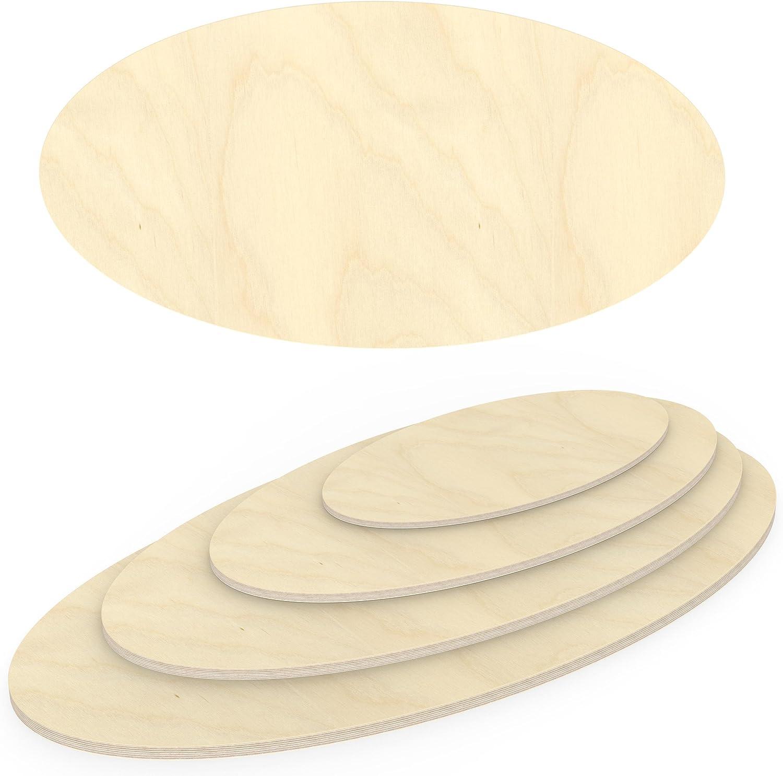 AUPROTEC Multiplexplatte 21mm Ellipse 500 mm x 400 mm Holzplatten von 40cm-200cm ausw/ählbar elliptische Sperrholz-Platten Birke Massiv Multiplex Holz Industriequalit/ät z.B als Tisch-Platte