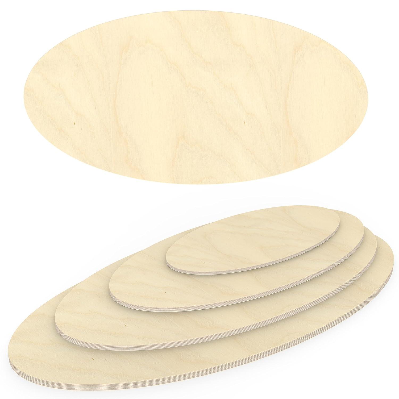 als Tisch-Platte AUPROTEC Multiplexplatte 30mm Ellipse 900 mm x 800 mm Holzplatten von 40cm-200cm ausw/ählbar elliptische Sperrholz-Platten Birke Massiv Multiplex Holz Industriequalit/ät z.B