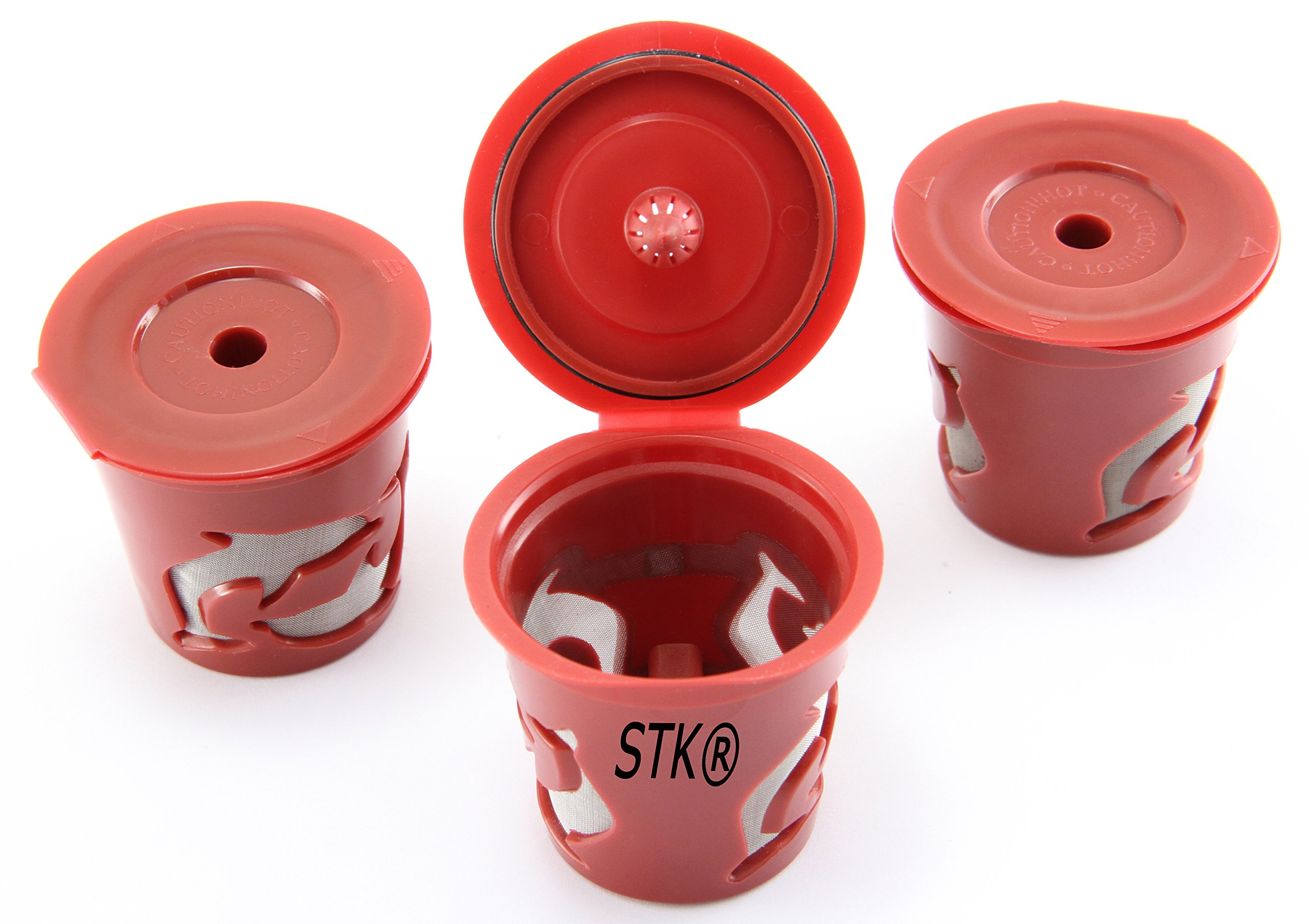 STK Keurig Reusable K Cups 3Pack for Classic and 2.0 Brewers Universal Fit for K55, K575, K15, K250, K-Elite, K155, K-Select, K475 and others