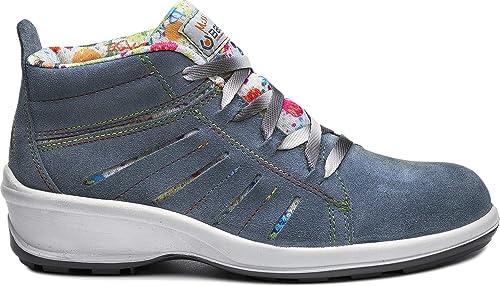 sneakers for cheap 8ed70 281a3 Scarpa Alta in Pelle Scamosciata Blu S1P SRC Art.B0321 Miss ...