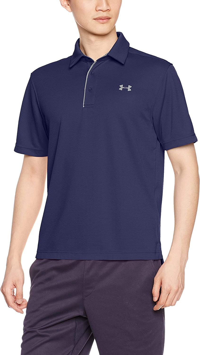 Under Armour Tech Polo, Hombre, Azul (Midnight Navy/Graphite 410), M