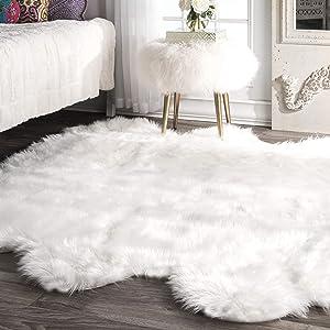 nuLOOM Fluffy Faux Sheepskin Shag Area Rug, 5' 3