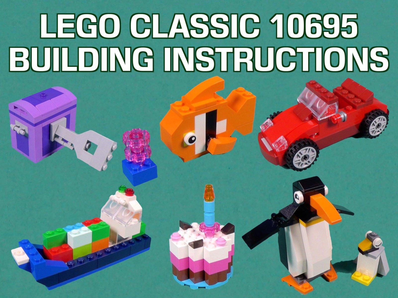 LEGO Classic 10695 Building Instructions on Amazon Prime Video UK